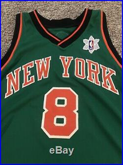 Danilo Gallinar Game Issued Used Worn Knicks Xmas Jersey