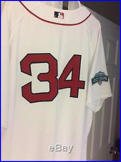 David Ortiz 2012 Team Issued (not game used) MLB COA Red Sox Jersey Authentic