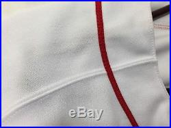 David Ortiz Game Used Worn Team Issued Home White Jersey Boston Red Sox 2011