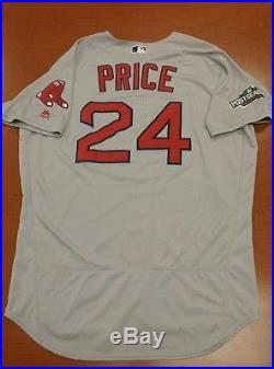 David Price Game Used/Issued MLB Authenticated Rex Sox Jersey