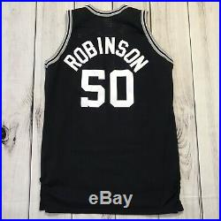 David Robinson Game Issued Used Worn Sand Knit Spurs Jersey