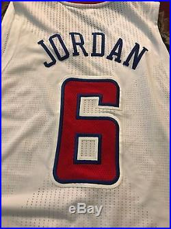 DeAndre Jordan Game Worn Used NBA Jersey Los Angeles Clippers Pro Cut Issued
