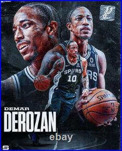 Demar Derozan Spurs Game Jersey Nike Used Worn Issued Nba Champion Raptors
