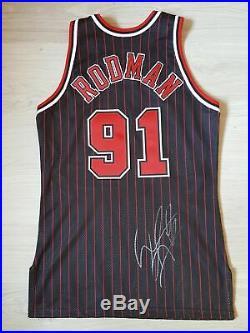Dennis Rodman Chicago Bulls Pro Cut Game Issued Jersey auto (Jordan Pippen Worn)