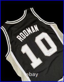 Dennis Rodman spurs champion game jersey + shorts NBA HOF Issued Used Worn Bulls