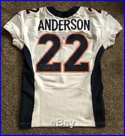 Denver Broncos CJ Anderson 2016 Nike Game Issued Jersey NFL Auction COA