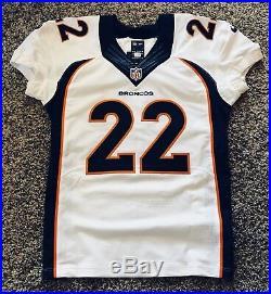 Denver Broncos CJ Anderson Nike Game Issued Jersey COA