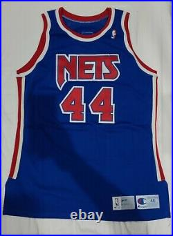 Derrick Coleman NETS Champion Pro Cut Jersey Size 46 game issued 91-92