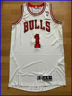 Derrick Rose Chicago Bulls game issue/worn white jersey, XL+2