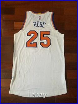 Derrick Rose Knicks Home Game Issued Team Issued Pro Cut Jersey