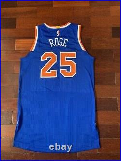 Derrick Rose Knicks Latin Game Issued Team Issued Pro Cut Jersey