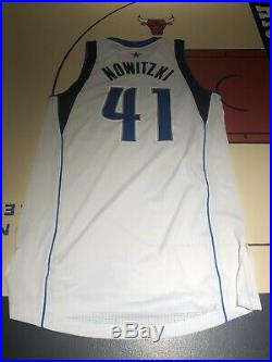 Dirk Nowitzki Game Issued Customed Dallas Mavericks Jersey Adidas