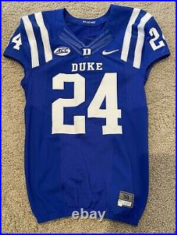 Duke Football NCAA ACC Game Used/Issued Jersey Blue #24