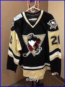 Dustin Stevenson Wilkes-Barre/Scranton Penguins 2013-14 Game-Issued Road Jersey
