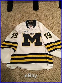Dylan Larkin Game Worn Michigan Hockey Jersey Detroit Red Wings Used Issued