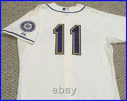 EDGAR MARTINEZ #11 2015 Seattle Mariners Home Cream game jersey issued MLB HOLO