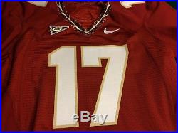 FSU Florida State Seminoles Nike Game Issued Jersey #17 SZ46 RETIRED NUMBER