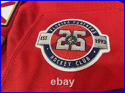 Florida Panthers Game Issued NHL MIC Adidas Authentic Jersey 58 Fight Strap