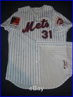 GAME ISSUED USED Majestic MIKE PIAZZA NEW YORK METS NY 2004 Patch Jersey Shea 40