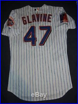 GAME ISSUED USED Majestic TOM GLAVINE NEW YORK METS NY 2004 Patch Jersey Braves