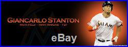 Giancarlo Stanton Miami Marlins Game Issued Un Worn 2015 Home White Jersey