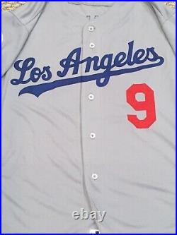GRANDAL size 46 #9 2018 LOS ANGELES DODGERS game jersey road gray issued MLB