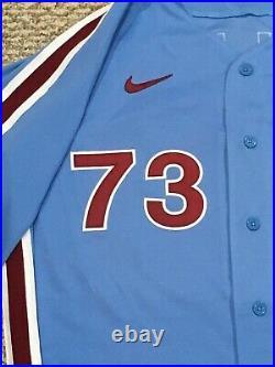 GRULLON #73 size 50 2020 PHILADELPHIA PHILLIES Home RETRO Game Jersey issue MLB