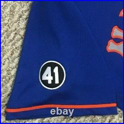 GSELLMAN size 44 #65 2020 New York Mets game jersey issued road blue 41 MLB