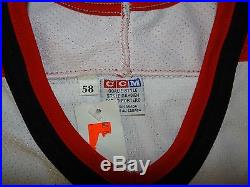 Game Issued Calgary Flames JS Giguere 1998 Game One Japan Jersey 58G Goalie