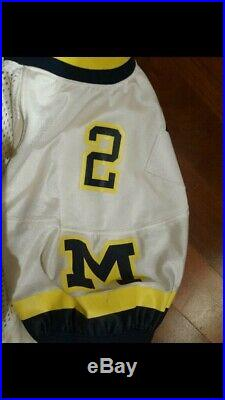 Game Issued/Cut University of Michigan Football Charles Woodson Jersey Sz 46