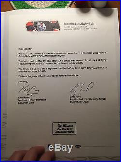 Game Issued Edmonton Oilers Retro Tyler Fedun Jersey