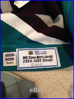 Game Issued Jersey Anaheim Ducks