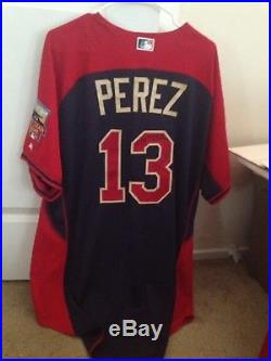Game Issued Kansas City Royals Salvador Perez AllStar Jersey Signed Size 50 2014