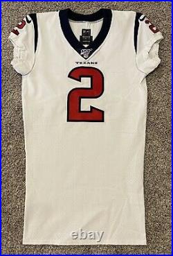 Game Issued Nike Houston Texans 2019 #2 jersey sz 44