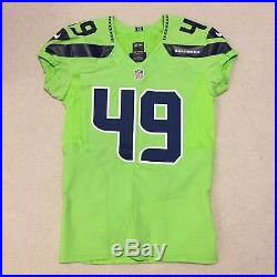Game Issued Seahawks COLOR RUSH Jersey