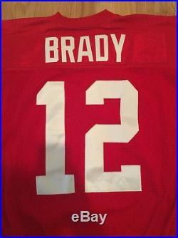 Game Team Issued Tom Brady Throwback 50th Season Reebok 2009 Red Patriots Jersey