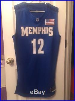 Game Used Memphis Tigers Nike Elite Tyreke Evans Game Worn Jersey Team Issued