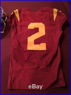 Game Worn Adoree Jackson Chrome Helmet And Jersey Used Issued USC Trojans