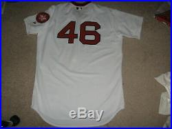 Game Worn/Issued Boston Red Sox Home 1975 Throwback Bicentennial Jersey