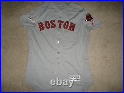 Game Worn/Issued Michael Chavis Boston Red Sox Jersey-Pittsburgh Pirates