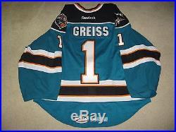 Game Worn/Issued Thomas Greiss Worcester Sharks Goalie Jersey-AHL, Islanders