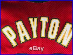Game Worn Jersey Gary Payton SONICS NBA Basketball Jersey Pro Cut Issued KEMP
