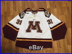 quality design 39ed1 9affd Game worn / Issued University of Minnesota Nike Hockey ...