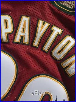 Gary Payton game Issued jersey Seattle Supersonics Pro Cut Signed Use For Game