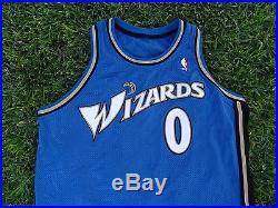 Gilbert Arenas Washington Wizards NBA Game Issue Blue Away Adidas Jersey 0 +4