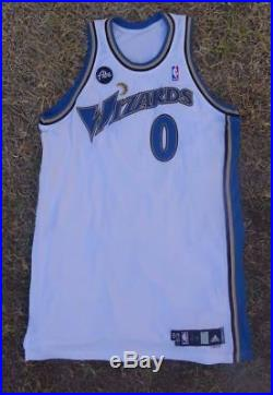 Gilbert Arenas Washington Wizards NBA Game Issue Home Adidas Jersey 0 Abe  Patch 883af62a5