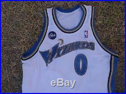 Gilbert Arenas Washington Wizards NBA Game Issue Home Adidas Jersey 0 Abe Patch