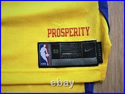 Golden State Warriors Nike team issued pro cut authentic game jersey 50+4 city