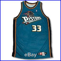 Grant Hill 1997-98 Detroit Pistons Game Worn Issued Signed NBA Jersey Auto PSA
