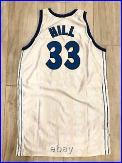 Grant Hill Authentic Game Issued Orlando Magic Signed Jersey White Rare